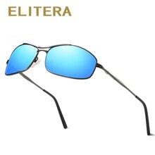 ELITERA Brand Men's Slim Frame Sunglasses Wilth Polarized Lens Fashion Style Eye