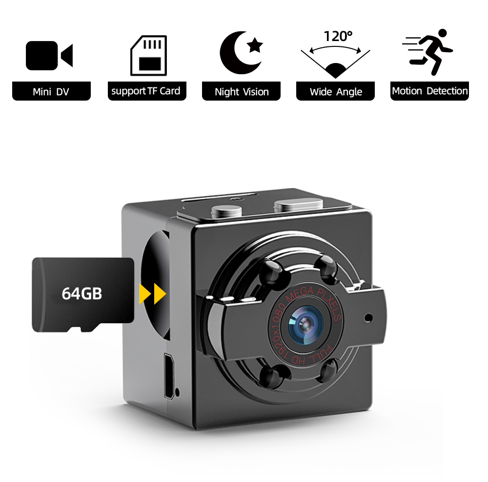 Mini DV Camera HD 1080P Camera Camcorders Sport  IR Night Vision Motion Detection Small Camcorder DVR Video Recorder Cam