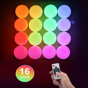 Bombillas LED RGB, luz de color de sueño con luces cambiantes de arco iris remoto, iluminación decorativa para fiestas, festivales de cumpleaños