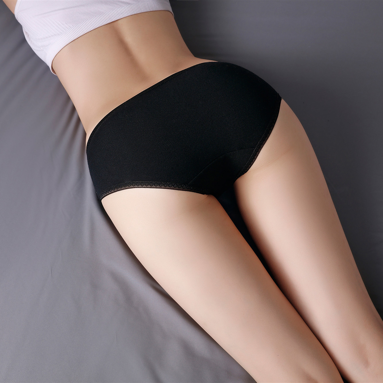 Women's Panties Soft Cotton Underwear Breathable Briefs For Women Sexy Low-Rise Panty 1Pc Solid Panty Ladies Bikini #RTEW