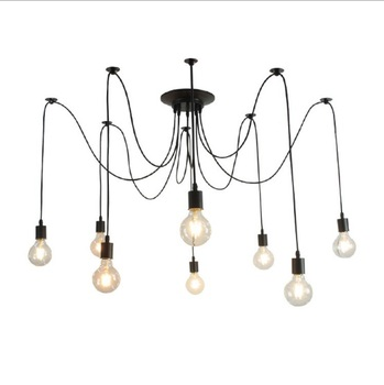 New chandelier spider long head chandelier clothing store office living room creative retro chandelier