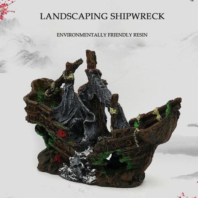 Sunken Pirate Shipwreck Aquarium Landscaping  3