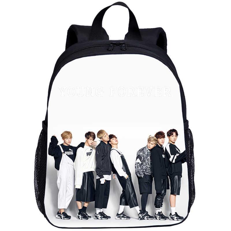Neue 2020 Kpop Jungkook Suga V JIMIN Kid Infant Schule Taschen Baby Mädchen Nette Reise Rucksack Harajuku Kinder Casual Bag bookbag