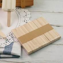 50/100 шт мороженного палочки натуральные деревянные палочки, красная объемная точка, парафиновый принтер gelli (ложка для мороженого diy-творчес...
