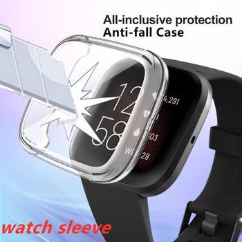 Gorąco!! Nadaje się do Fitbit Versa2 All-inclusive poszycie TPU poszycie Anti-fall Case kolorowe Smart Watch powłoka ochronna tanie i dobre opinie centechia CN (pochodzenie) Przypadki english Dla osób dorosłych Zgodna ze wszystkimi Inne dropshipping whosale soft and thin TPU plated