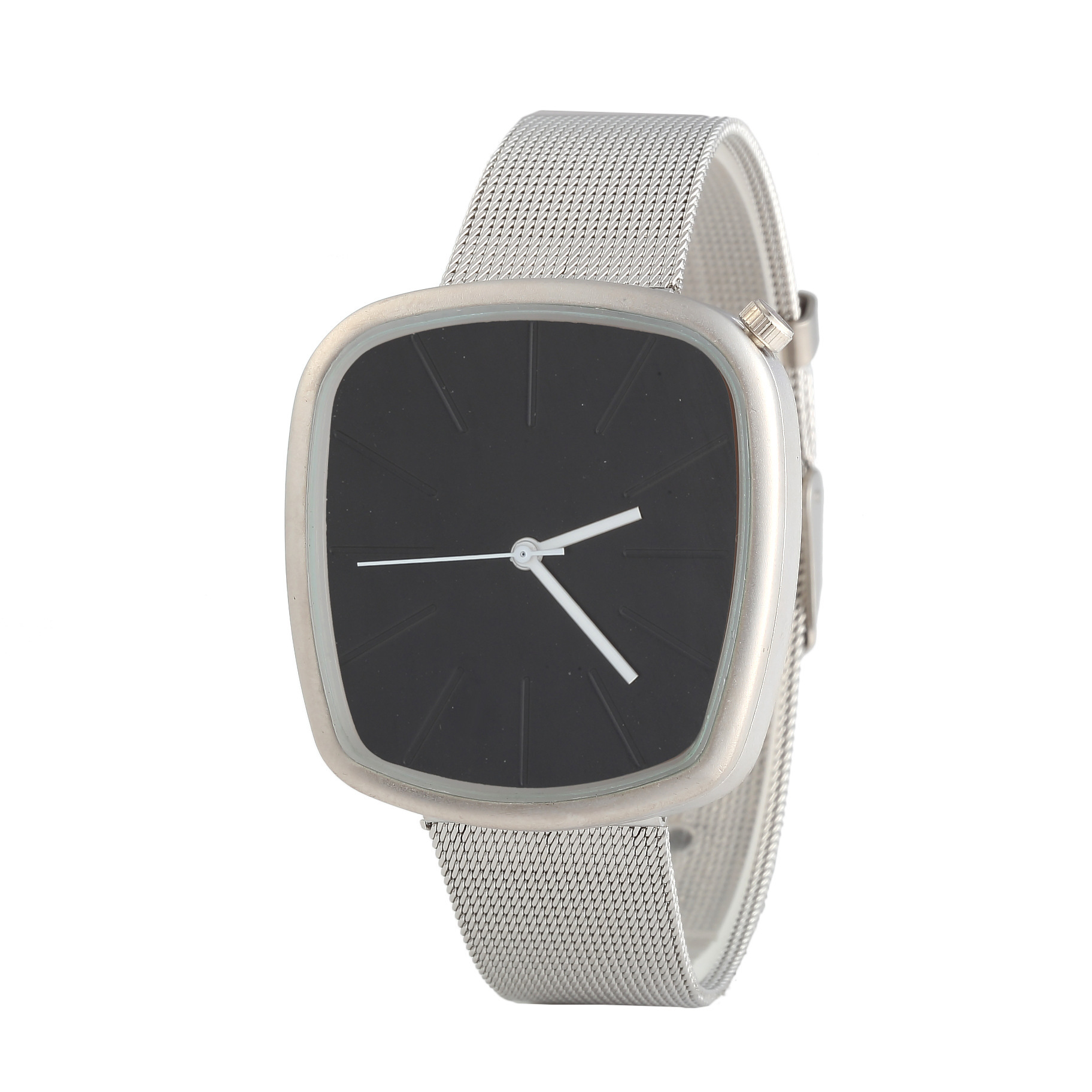 Hot Selling Recommended New Style Square Mesh Belt Quartz Watch Simple Dial Unisex Watch