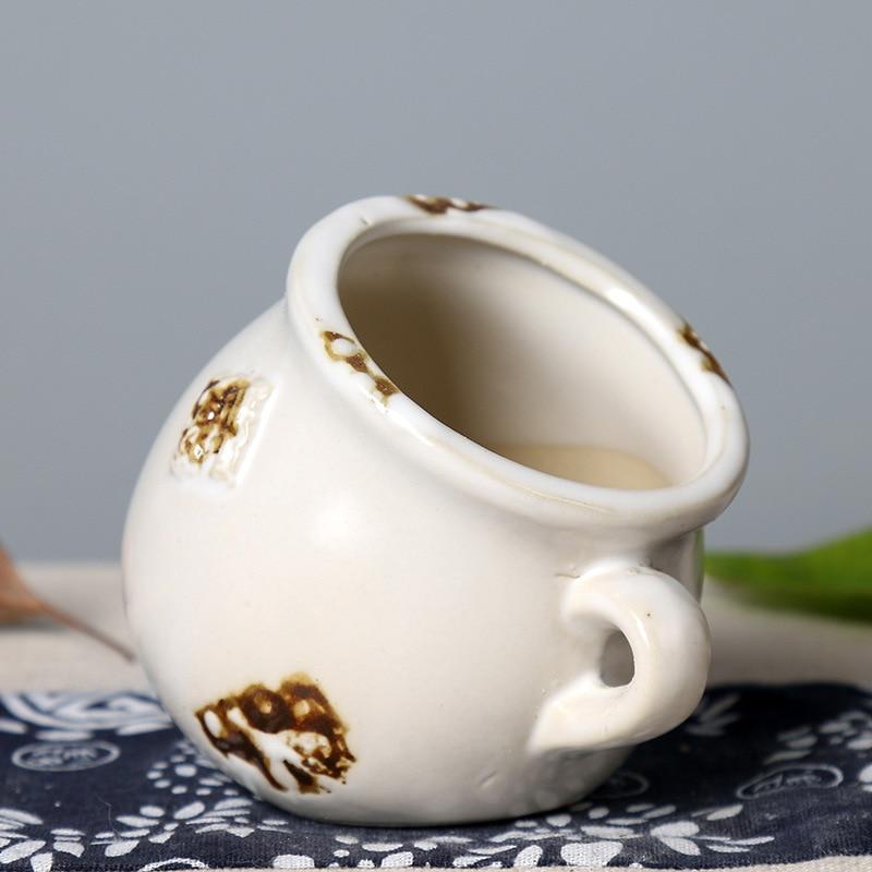 Купить с кэшбэком Creative Succulent Flowerpot Plant Clay Stoneware Green Plant Plastic Simple Ceramic Personalized & Creative Small Pot Plant