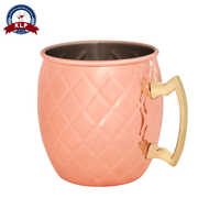 Insulated copper plated 18oz Camping wine cup travel stirring beer mug