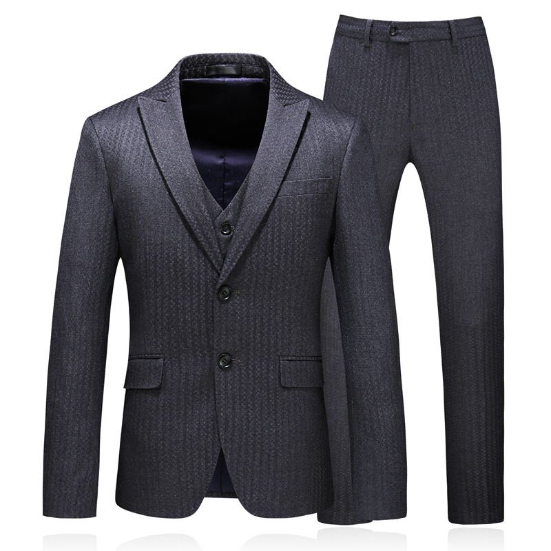 Working Suits Wedding Party Suit For Men Vintage Mens Stripe Slim Fit Luxury Clothing Elegant Beach Business Sets Sexy Suits