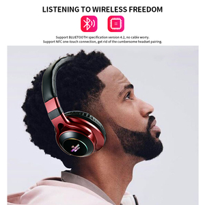 Image 2 - LED Light Wireless Bluetooth V5.0 Headphones Over Ear Wireless Earphone 3D Stereo Headset Support TF Card FM 3.5mm AUX Audio