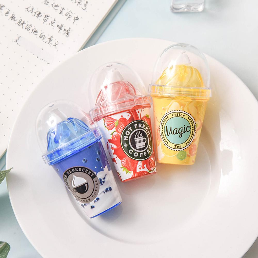 Cute Milk Tea Cup Ice Cream Correction Correcting Tape Stationery Corrector School Office Supplies Student Kids Gift