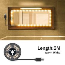 USB Mirror Vanity Light Strip LED Wall Lamp 5V Makeup Dressing Table Lighting Beauty 1M 2M 3M 4M 5M Make Up