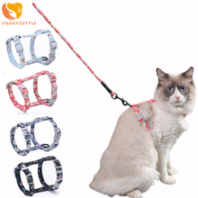 kitten harness pet leash cat harness outdoor walk for small cat puppy chihuahua pet harness leash cat products Cat Harness Leash Adjustable Harness Collar for Kitten Puppy Small Pet Outdoor Walking Pet Traction Collar with Leash Leads