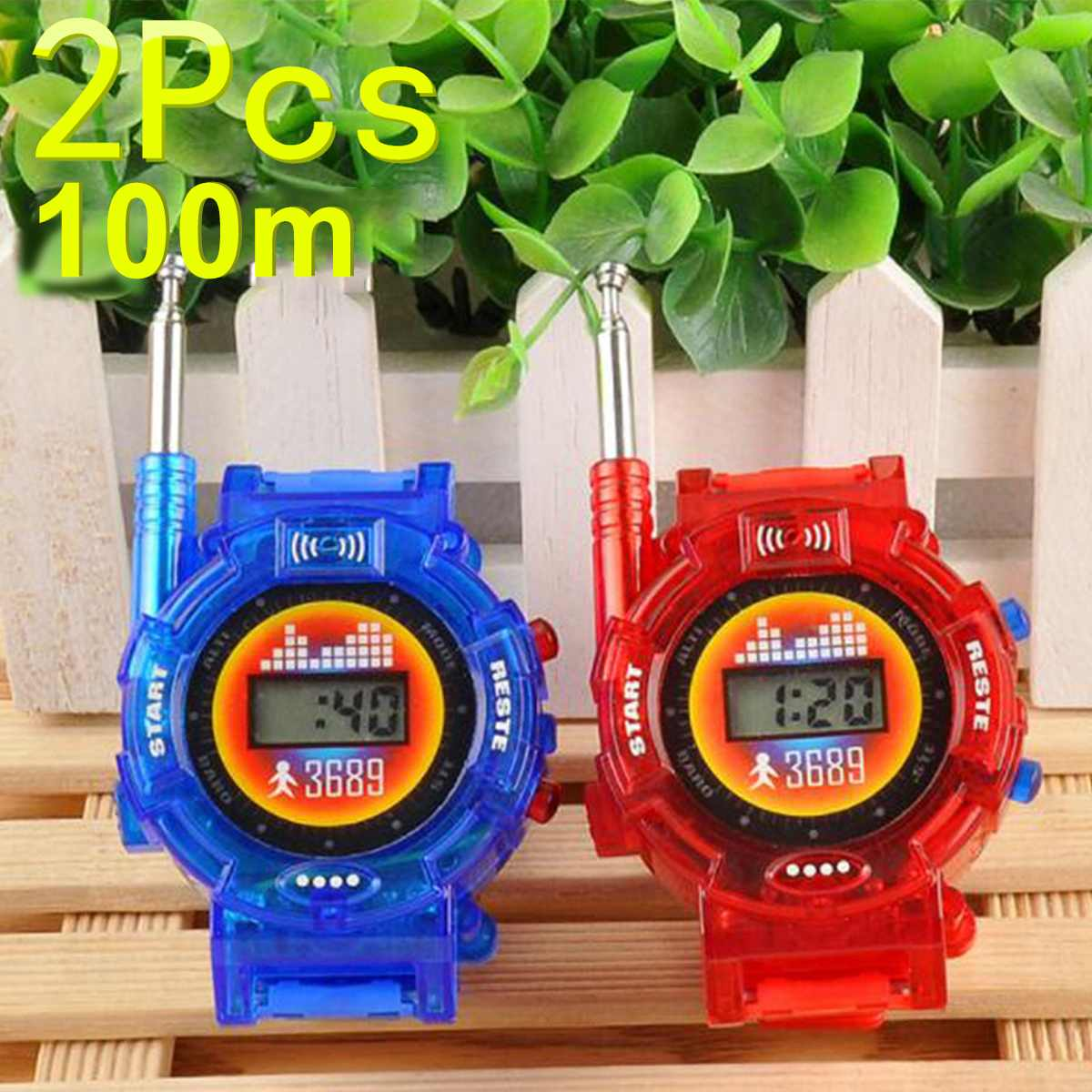 2Pcs Walkie Talkies 10KM Communication Distance Watch Child Kids Watches Two-way Radios Interphone Clock Gift