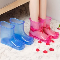 23cm Heightening Feet Bath Foot Health Care Washing Bucket Plastic Foot Basin Feet Bathing Shoes Household Merchandises
