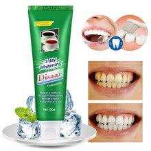 100g зубная паста для отбеливания для удаления пятен пероксид древесный уголь для зубная паста мята зубная паста