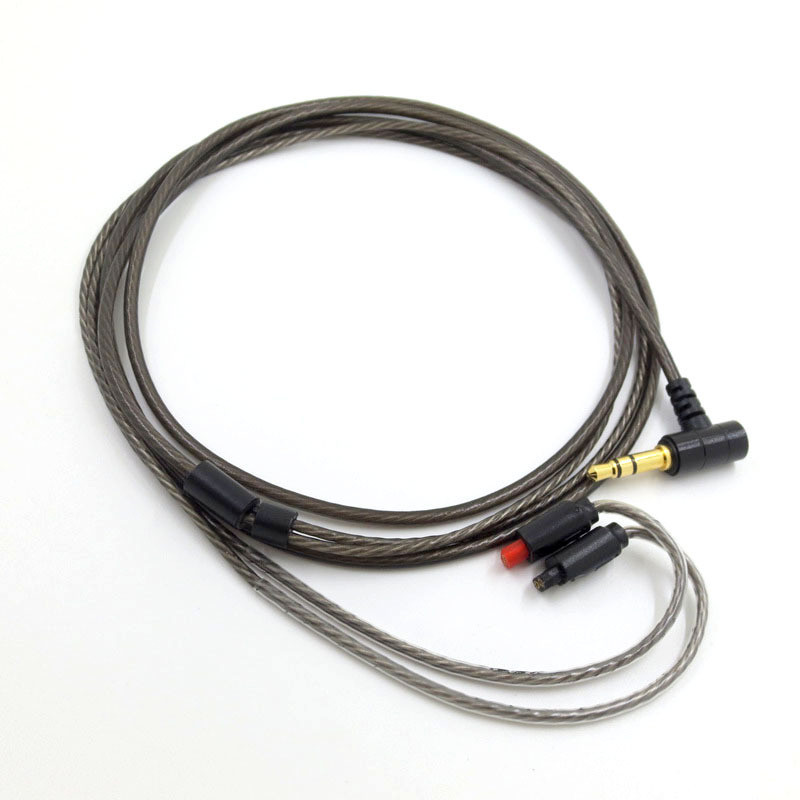 Replacement Audio <font><b>Cable</b></font> For Oriolus SE215 A2DC LS70 IM50 MMCX <font><b>0.78</b></font> <font><b>2pin</b></font> Headphones Silver Plated Cord Wire 23 AugT2 image