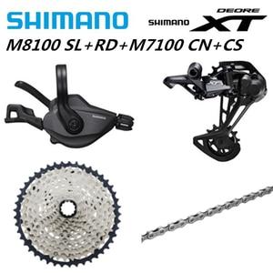 Image 3 - شيمانو ديوريه XT M8100 M7100 M6100 M9100 12s مجموعات الدراجة الجبلية MTB SL + RD + CS + HG M8100 شيفتر خلفي Derailleur سلسلة كاسيت