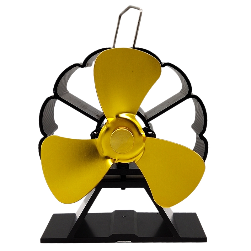 3-Blade Stove Fan Ultra Quiet Fireplace Wood Burning Eco Friendly Fan Wood/Log Burner Fan,Stove Fan Heat Powered Fireplace Fan F