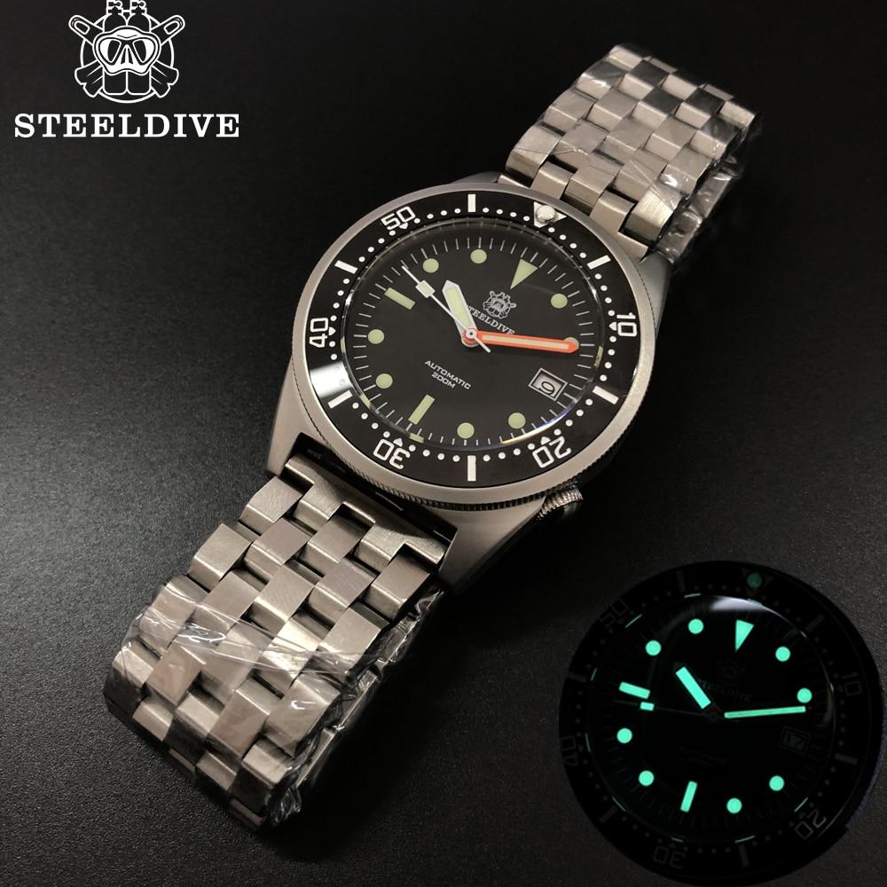 Steeldive Shark Dive Watch 200m Mechanical Watch Men Wrist Automatic C3 Super Luminous 1979 Replica Automatic Watches Men
