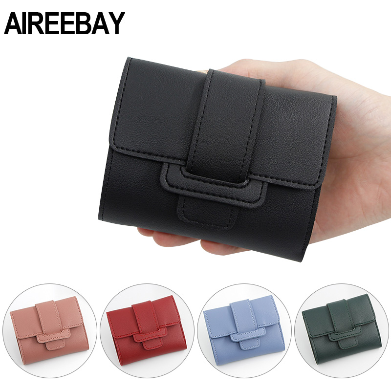 AIREEBAY Women Wallet PU Leather Purse Female Small Wallet  Pouch Handbag For Women Coin Purse Ladies Card Holders
