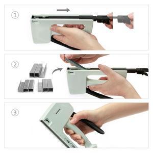Image 4 - Светильник WORKPRO для маникюра ручной штапельный пистолет для мебели пластиковый степлер с 800 скобами 6 мм/8 мм/10 мм и штапельного удаления