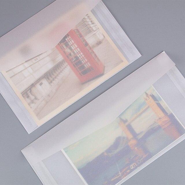 50pcs Blank Translucent Paper Envelope Vintage Envelopes For Invitations Wedding Gift Card Envelope Postcards Letter Storage Bag