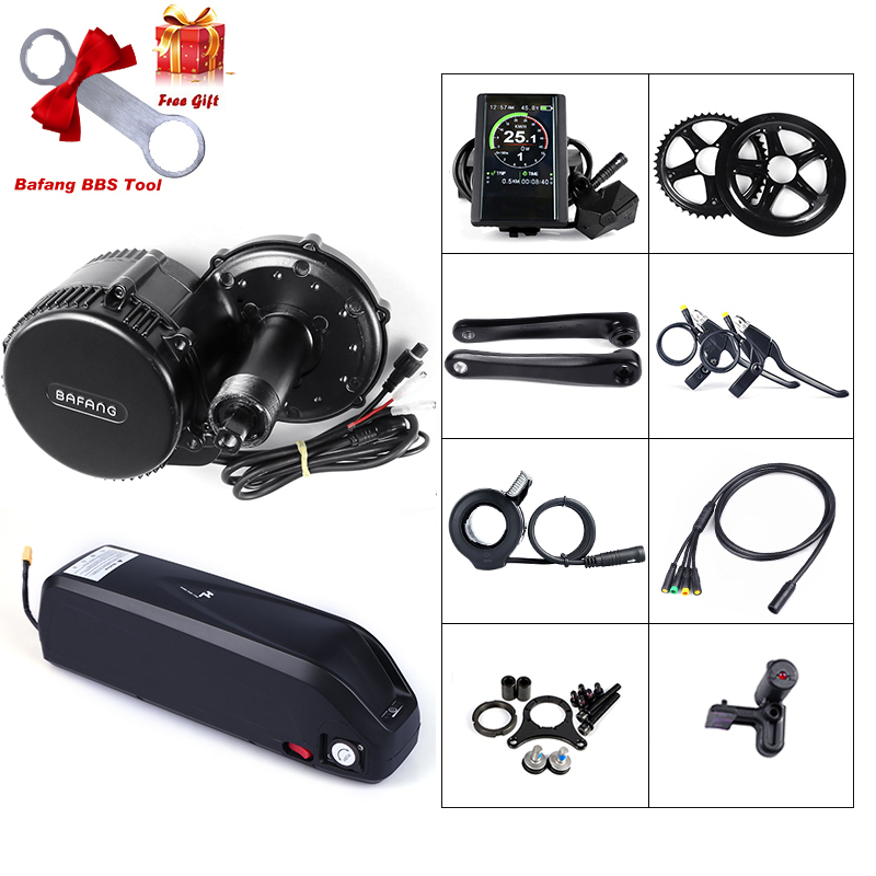 Perfect 48V 750W Bafang BBS02B Mid Drive Motor Electric Bike Conversion Kit with Lock 12Ah/17.5Ah Bicycle Battery built in Samsung Cell 0