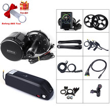 48V 750W Bafang BBS02B Mid Drive Motor Electric Bike Conversion Kit with Lock 12Ah/17.5Ah Bicycle Battery built in Samsung Cell(China)