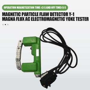 Image 2 - Ücretsiz kargo manyetik parçacık kusur dedektörü Y 1 Magna akı AC elektromanyetik Yoke test cihazı manyetik parçacık kusur dedektörü
