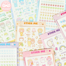 M 8 Designs 1Pc/pack Electric Girl Deco Stickers Scrapbooking Bullet Journal Popular Stationery Children