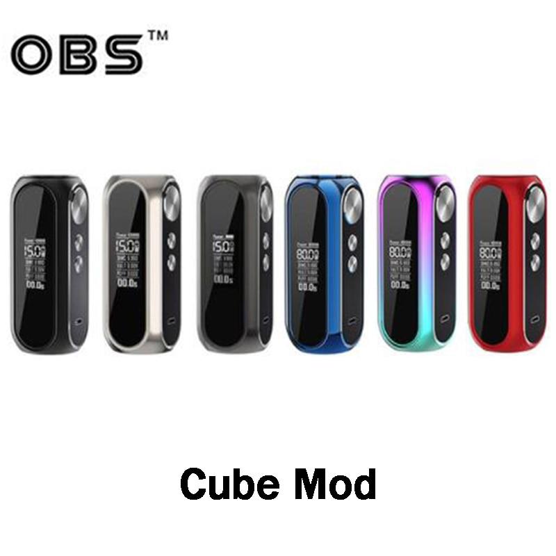 オリジナル OBS キューブモッズ電子 Cig VW ボックス Mod と 3000 内蔵バッテリー電子タバコ蒸気を吸うサポート OBS cubeTank 気化器  グループ上の 家電製品 からの 電子タバコアクセサリー の中 1