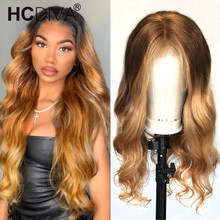 Lace Wig Human-Hair Body-Wave Brazilian Blonde Remy Natural 4/27-Colored Wig-613 Pre-Plcuked