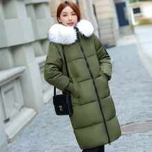 Jacket New Hot Sale Long For Winter Women 2019 Large Collar Cotton-padded Warm Thicken Plus Size 7xl Coat Parka Outwear Female