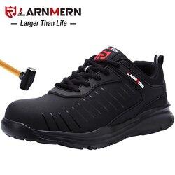 LARNMERN Mens Stahl Kappe Sicherheit Arbeit Schuhe Für Männer Leichte Atmungsaktive Anti-Smashing Nicht-Slip Anti-statische schutz Schuhe