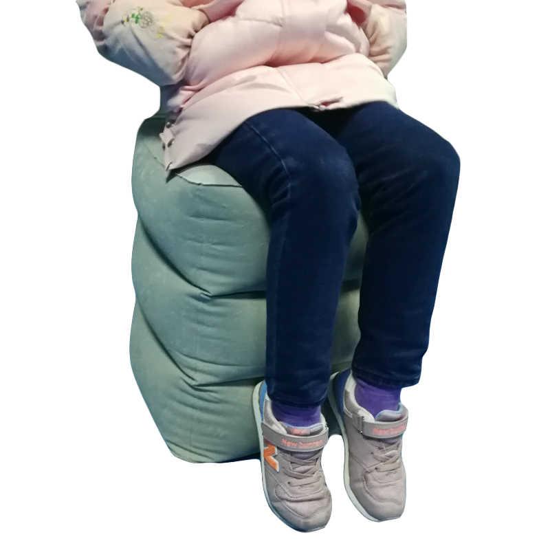 Inflatable Tinggi Disesuaikan Ottoman Pijakan Kaki Bangku Anak-anak Penerbangan Pijakan Kaki Bantal Inflatable Perjalanan Bantal Kaki Sisanya Pad