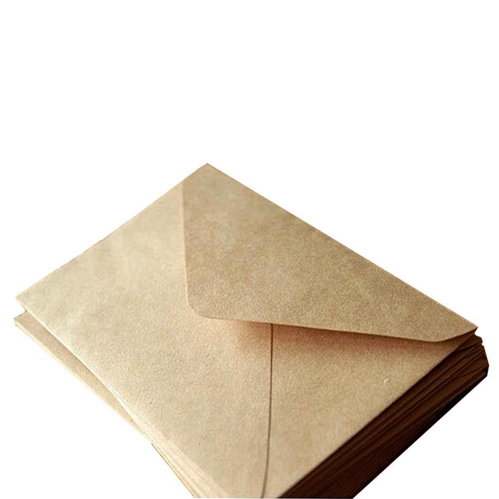 Vividcraft 100pcs/lot Vintage Diy Multifunction Kraft Envelopes Card Birthday Envelope Wedding Gift 16 Party Paper Envelope G9Z2