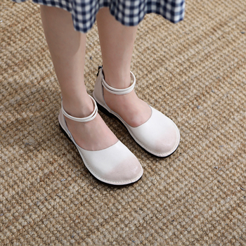 Anance Original Muffin and Roman Sandals Thick-soled Casual Leather Hollow Pile Sandals Retro Personality Comfortable soft women