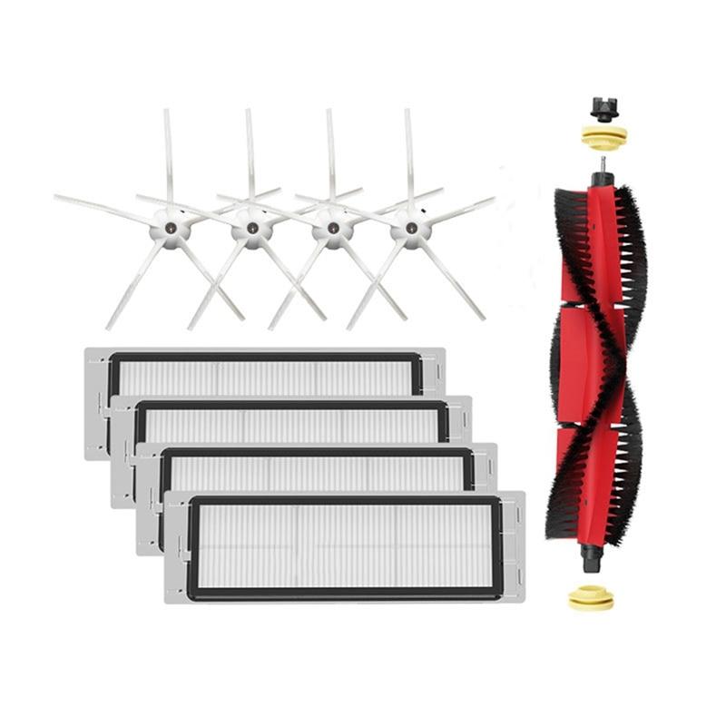 AD-9PCS robô aspirador de pó filtros hepa escova principal acessórios para xiaomi roborock s4 s5max robô peças