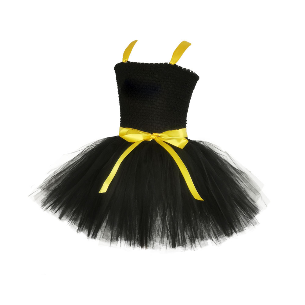 Image 3 - 1 14Y Black Girl Batman Tutu Dress Knee Length Bat Girl Birthday Halloween Cosplay Costume For Photos Baby Kids Clothes Set-in Girls Costumes from Novelty & Special Use