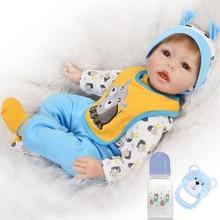Vaca azul Reborn bebé niño muñecas realista 22 pulgadas 55cm silicona reborn bebé juguetes para muñecas niña regalo bebes reborn l o l muñecas