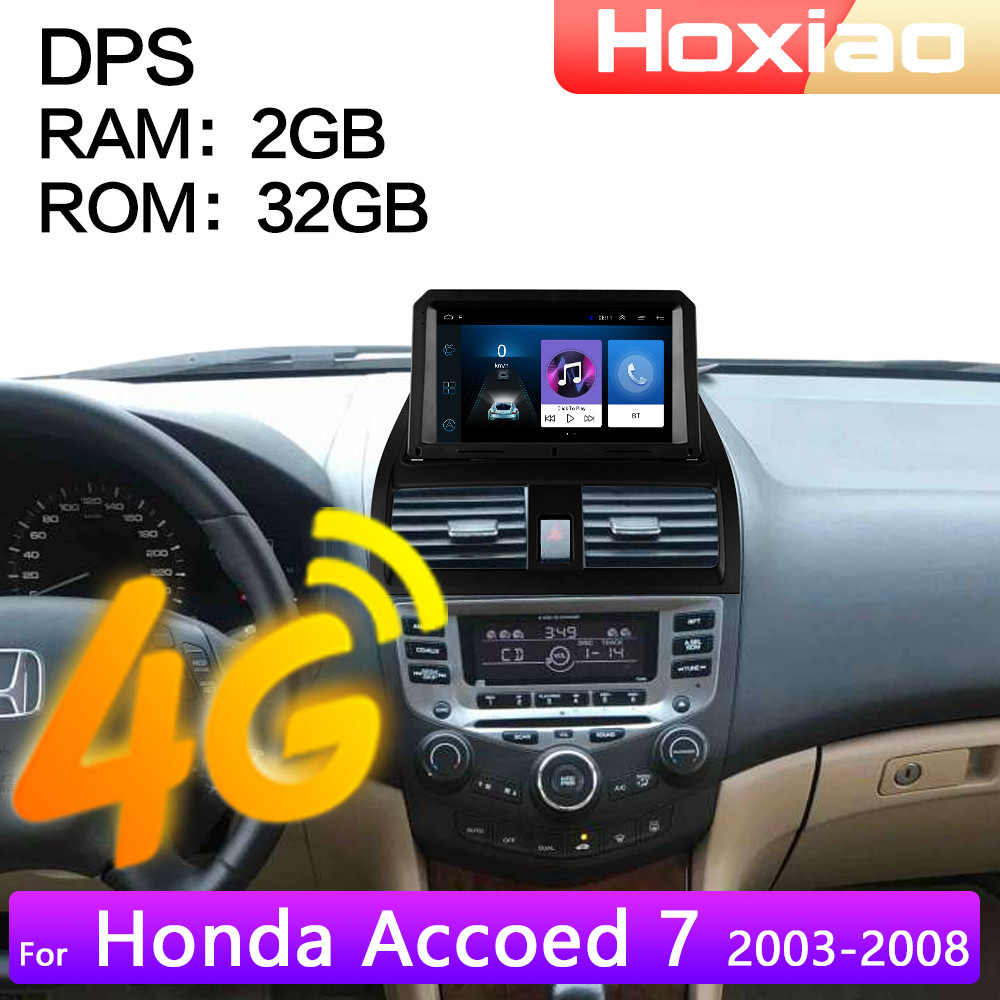 4G Android 8.1 araba radyo multimedya Video çalar Honda Accord 7 2003 2004 2005 2006 2007 2008 2DIN navigasyon GPS 2 din
