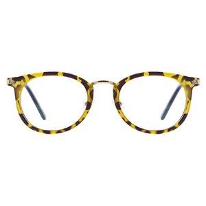 Image 2 - גברים ונשים קל בציר משקפיים עגול פלסטיק מתכת משקפיים עבור מרשם עדשות קוצר ראיה קריאת Multifocal