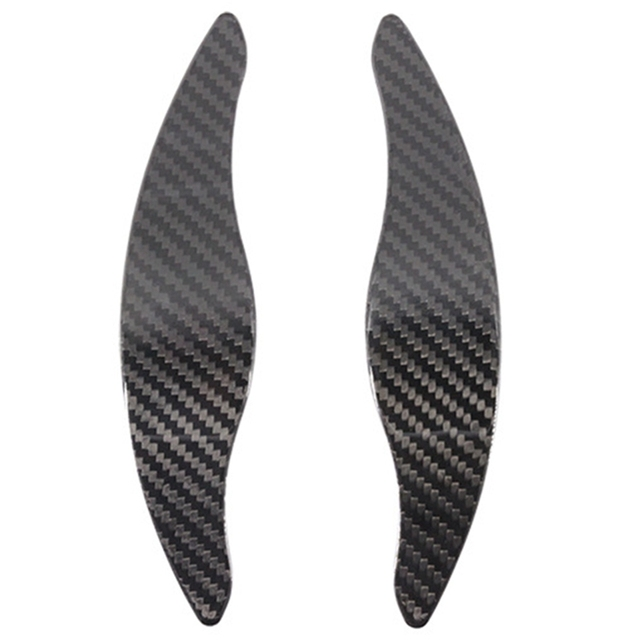 Car Carbon Fiber Steering Wheel Shift Blade Paddle Shifter Extension for KIA Stinger Paddle Shift Trim 2