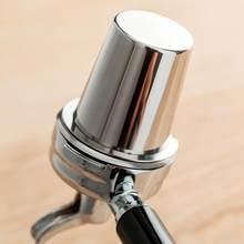 Apoio dropshipping copo de dose café em pó de aço inoxidável alimentador parte para 58mm máquina de café expresso copo dose