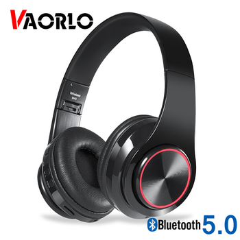 B39 LED Colorful Breathing Lights Bluetooth 5.0 Headphone Portable Folding Wireless Headset Earphone With Mic FM Support TF Card