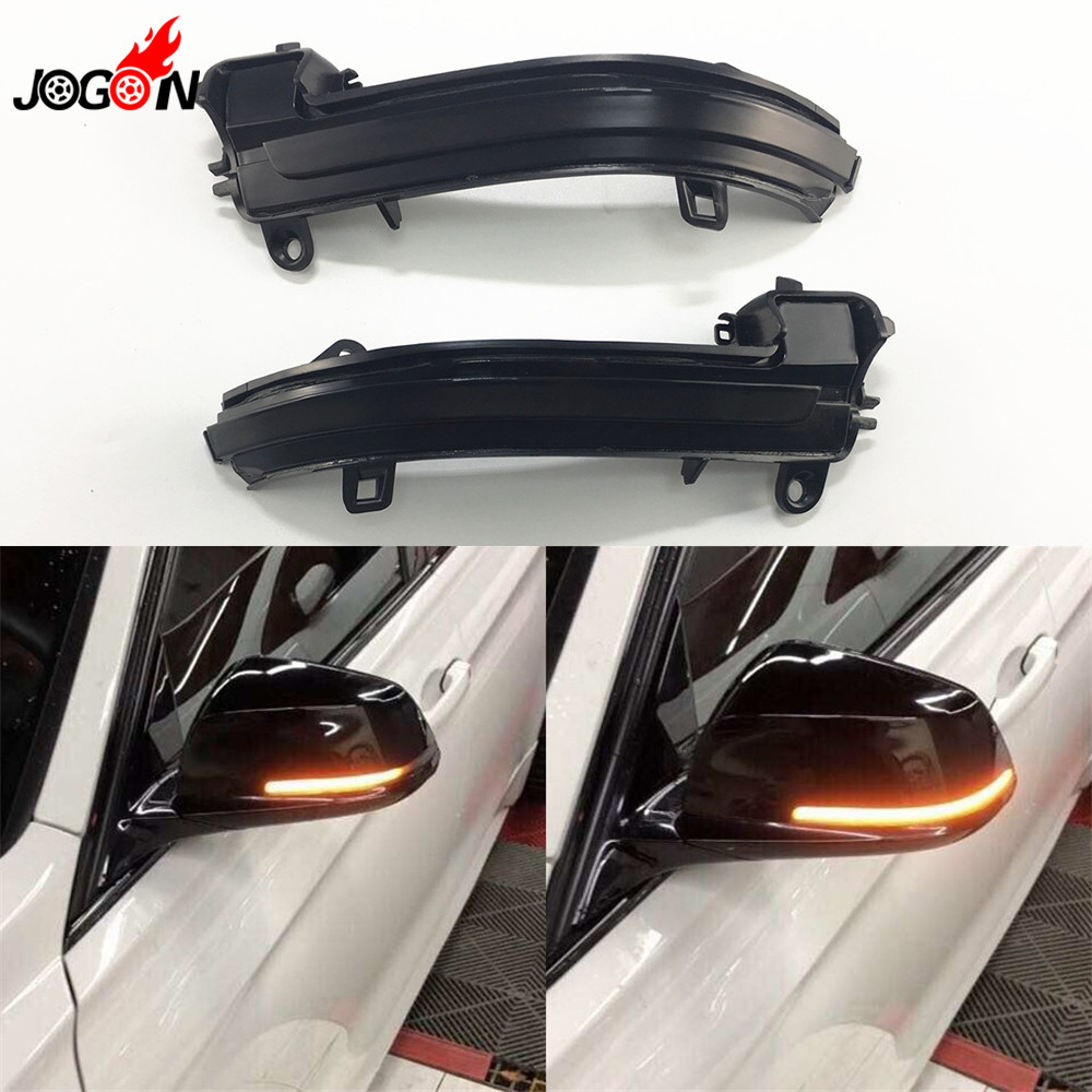 Dynamic Turn Signal <font><b>LED</b></font> Rearview Mirror Indicator Blinker Light For <font><b>BMW</b></font> 1 2 3 4 Series X1 F20 F21 F22 F23 <font><b>F30</b></font> F31 F34 F32 E84 i3 image