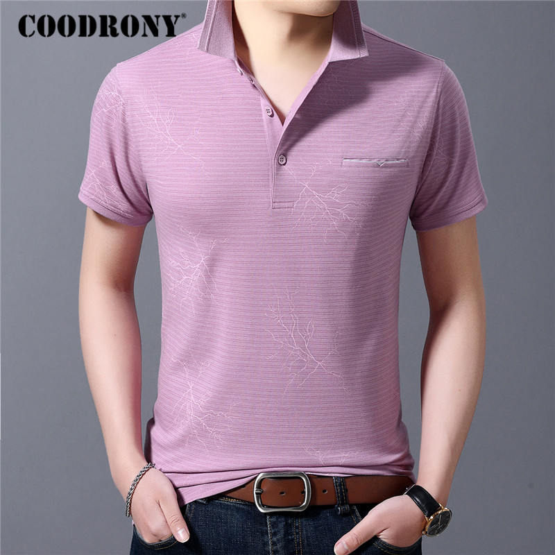 COODRONY Brand Cotton T Shirt Men With Real Pocket Business Casual T-Shirt Men Spring Summer Short Sleeve Tee Shirt Homme C5065S