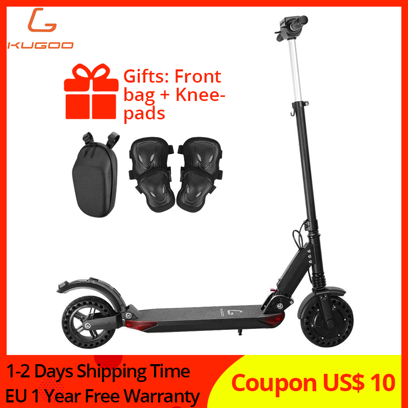 Folding 350W Electric Scooter KUGOO S1 PRO Speed Scooter LCD Display Screen 30km 3 Speed Mode 8'' Honeycomb Explosion-proof Tire