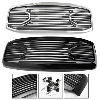 Areyourshop Front Grote Hoorn Grille + Vervanging Shell Voor 2006-2009 Dodge RAM 2500 + 3500 Mesh Grille shell Auto Accessoires